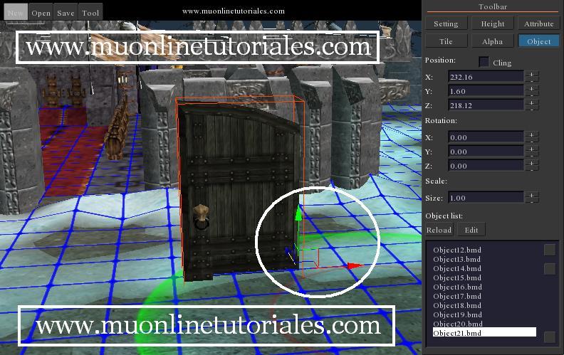 Modificando las propiedades de una puerta