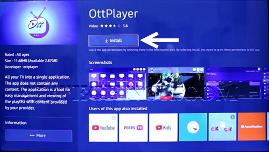 ottplayer su samsung