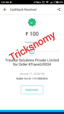 TravelUR-earning-proof-tricksnomy