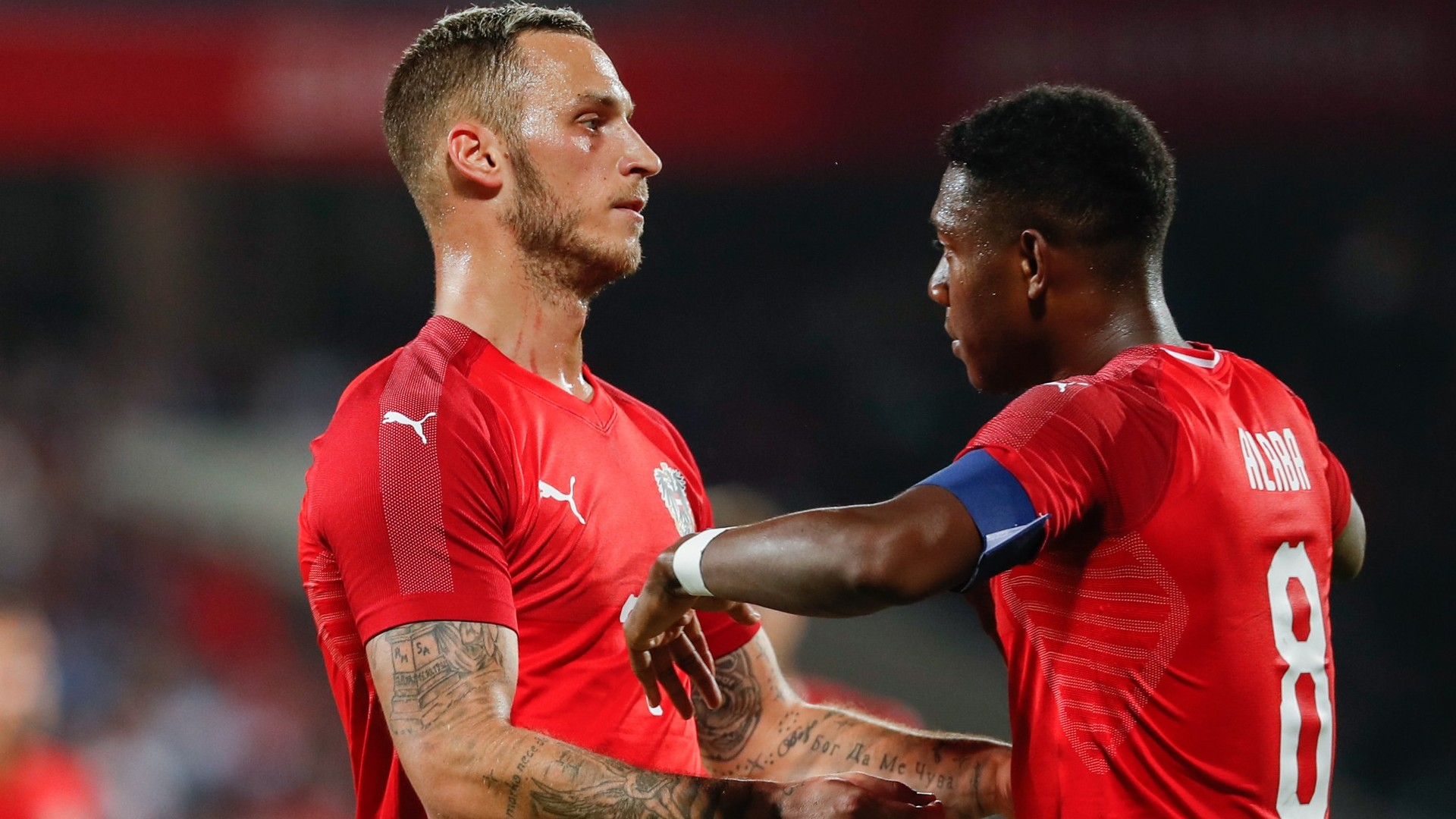 Marko Arnautovic and David Alaba will shoulder Austria's hopes in the tournamenta