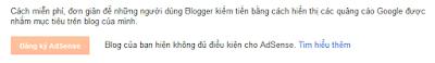 Blogger chưa bật kiếm tiền