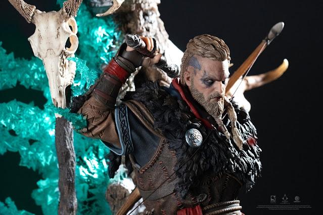 Assassin's Creed Valhalla statue looks fierce
