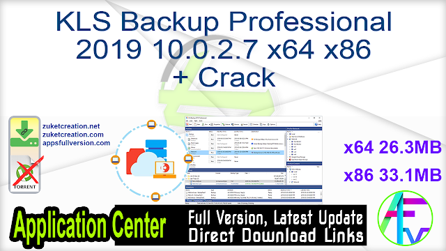 KLS Backup Professional 2019 10.0.2.7 x64 x86 + Crack