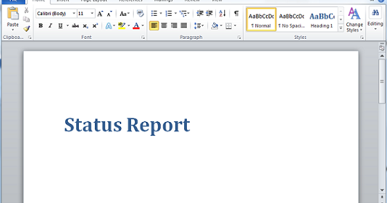 microsoft word template report