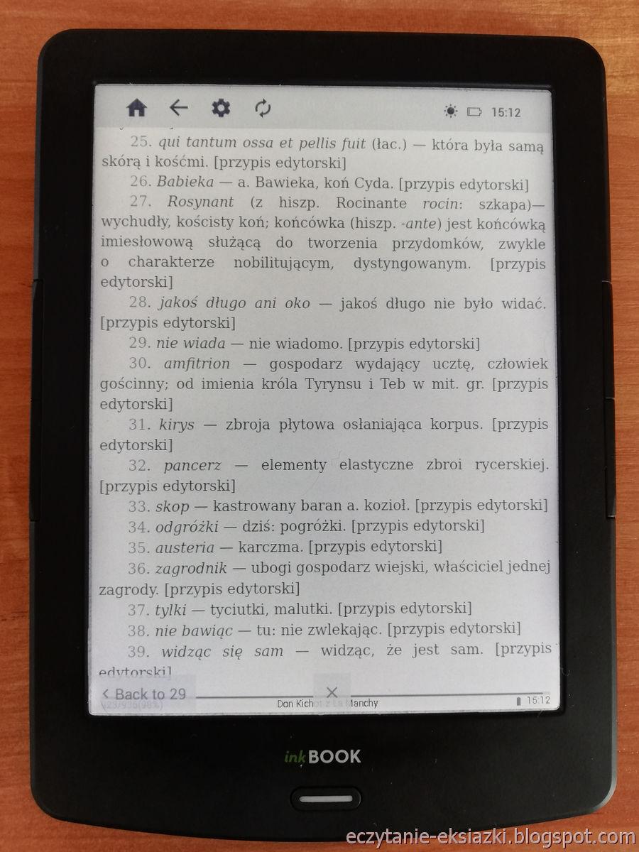 PocketBook Reader InkBOOK LUMOS – obsługa przypisów