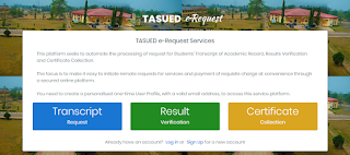 TASUED Transcript, Result Verification & Certificate Collection Guidelines