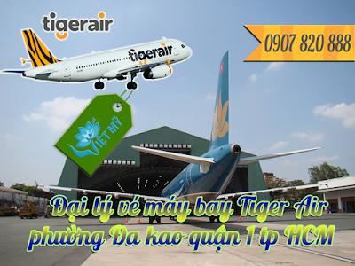 Đại lý vé máy bay Tiger Air phường Đa kao quận 1 tp HCM