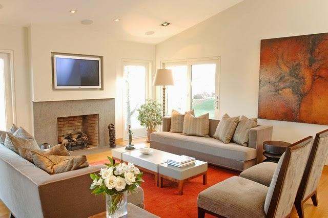 Salas con chimenea y tv   ideas de salas con estilo