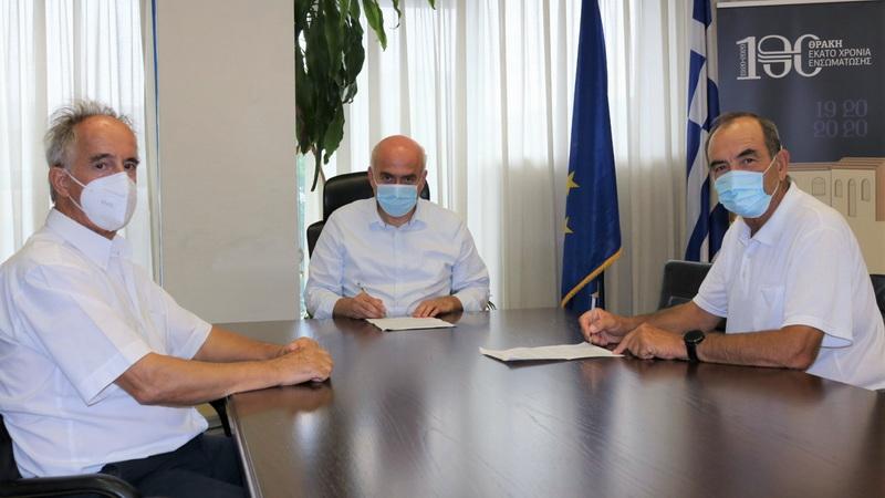 Υπογράφηκε η σύμβαση για την κατασκευή του δρόμου προς τη Μονή Μαξίμου Καυσοκαλυβίτη στο Παπίκιο όρος