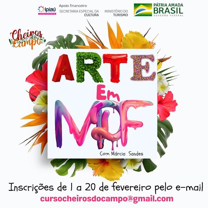 Arte em MDF com a Artista Plástica Márcia Sandes: Inscrições de 1 a 20 de fevereiro