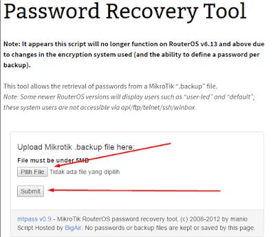 mengatasi lupa password mikrotik