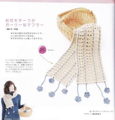 Patron Crochet Bufanda Cinta