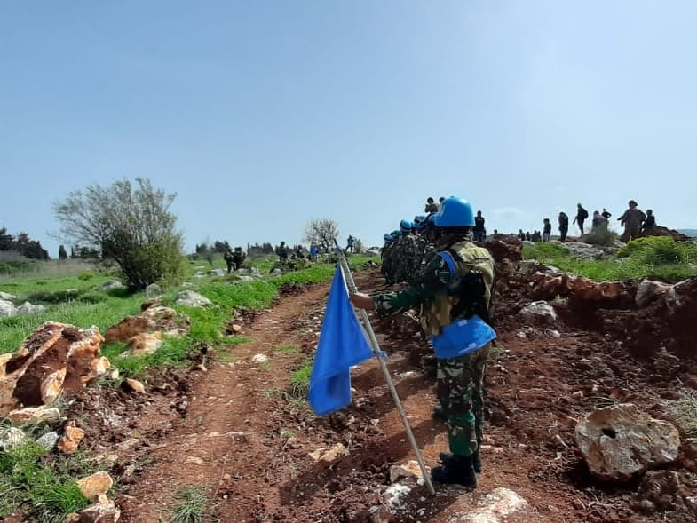 Situasi di Perbatasan Lebanon - Israel Mencekam, Personel Satgas Indobatt XXIII-O/UNIFIL Berhasil Redam Ketegangan