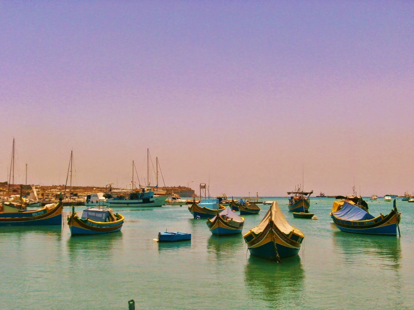 Fishing boats at Marsaxlokk, Malta