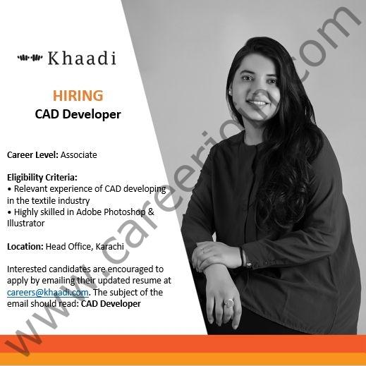 careers@khaadi.com - Khaadi SMC Pvt Ltd Jobs 2021 in Pakistan
