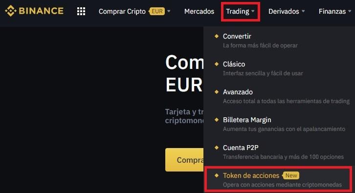 Cómo Comprar Tokens de COINBASE STOCK TOKEN en Binance