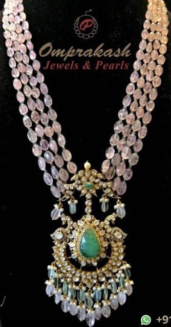Light Purple Beads Necklace
