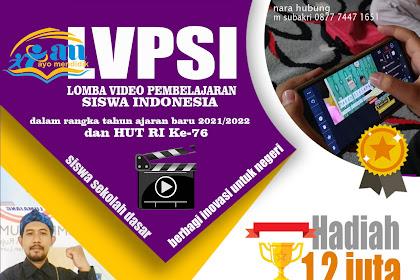 Lomba Video Pembelajaran Siswa Indonesia  untuk Sekolah Dasar (SD) Tahun 2021  MERDEKA NEGERIKU, MERDEKA BELAJAR SISWAKU