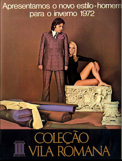 propaganda Vila Romana - 1972. moda anos 70; 1972; moda anos 70; propaganda anos 70; história da década de 70; reclames anos 70; brazil in the 70s; Oswaldo Hernandez
