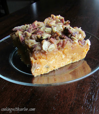 piece of maple crunch sweet potato casserole