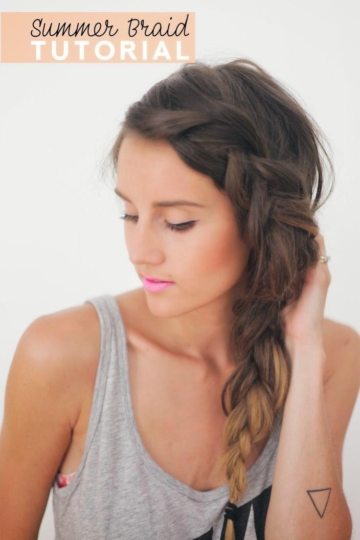 Marvelous Side French Braid For Beginners Video Tutorial Short Hairstyles Gunalazisus