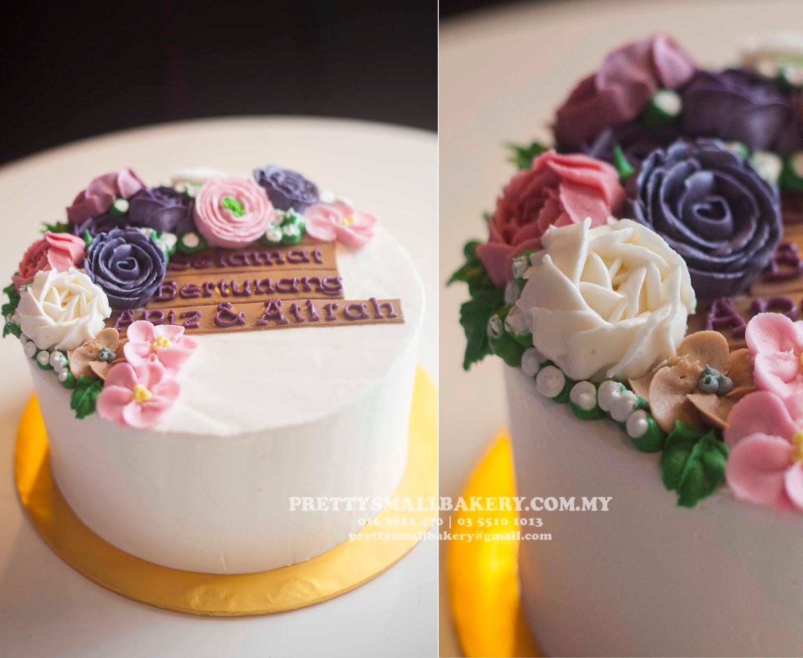 Kek Tunang Yang Simple Dan Comel Prettysmallbakery