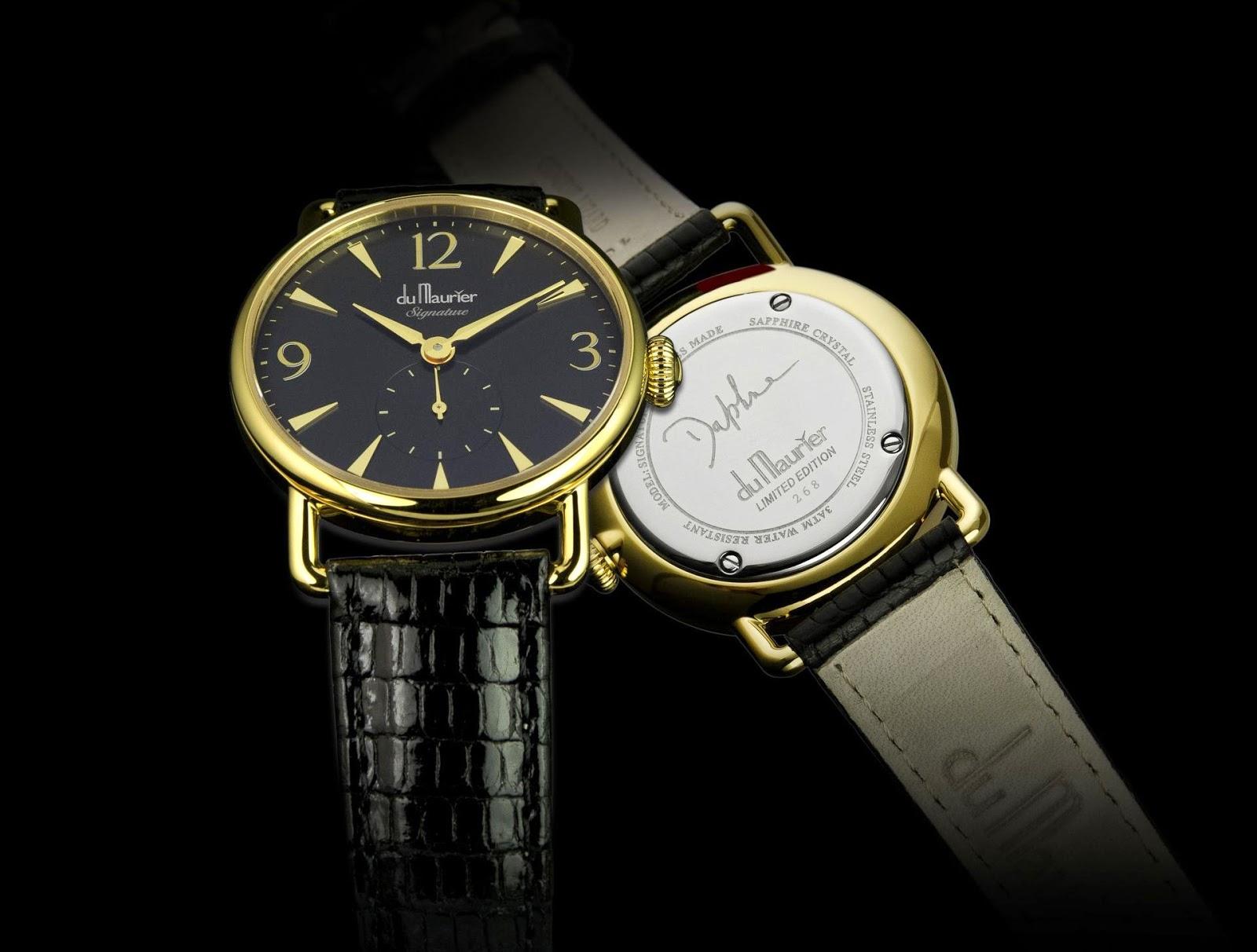 """du Maurier Watches - The """"Daphne Signature"""" Black"""