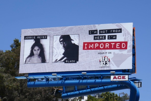 not from here imported Jessie Reyez 6lack billboard