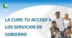 CURP para acceso a los servicios de tramites de gobierno certificada y verificada