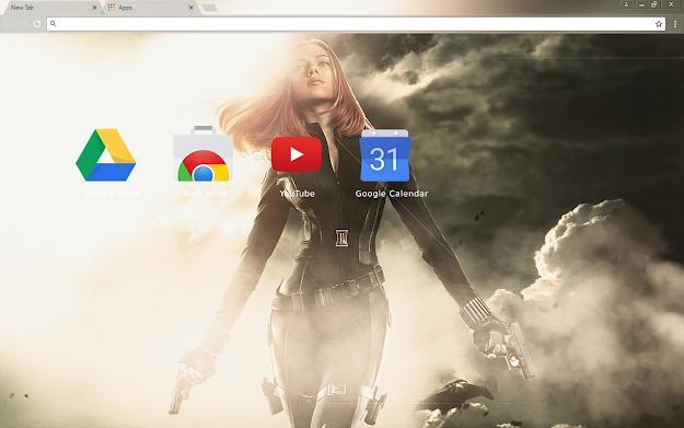 Black Widow Chrome Theme