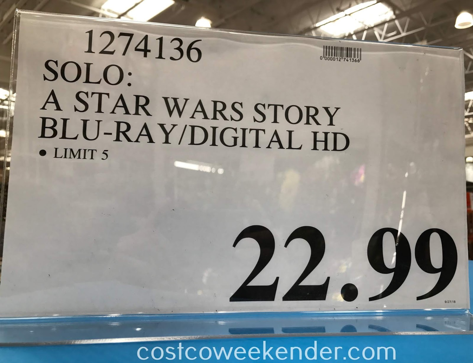 Deal for a Solo: A Star Wars Story Blu-ray at Costco