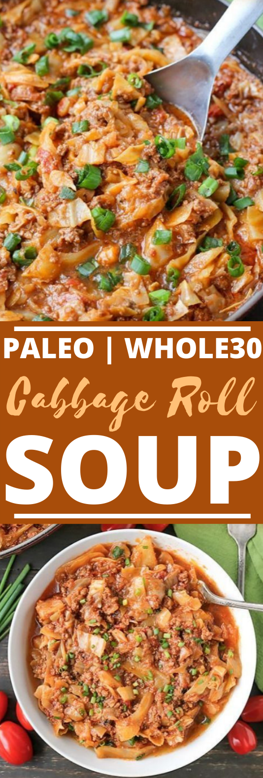 Paleo Whole30 Cabbage Roll Soup #healthy #whole30 #lowcarb #paleo #soup