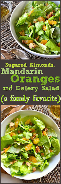 This tasty butter lettuce salad pleases everyone. The kids love the oranges and the adults love the sugared almonds. Add in some celery and a delicious dressing and you have one family favorite. www.thisishowicook.com #salads