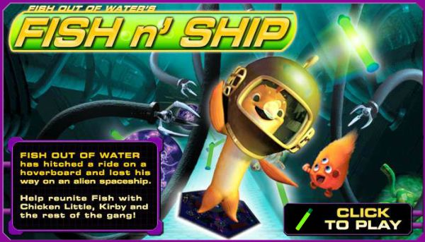 Play Chicken Little Fish out of Water's Fish n' Ship