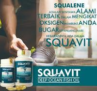 LJA_1586 SQUAVIT 40 Softgel Squalene Deep Ocean Fish Liver Oil - Minyak Ikan Omega 3 6 Squa Original