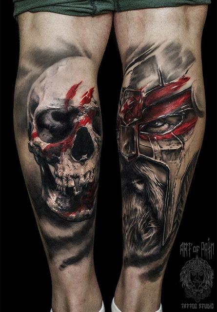 tattoos on back leg