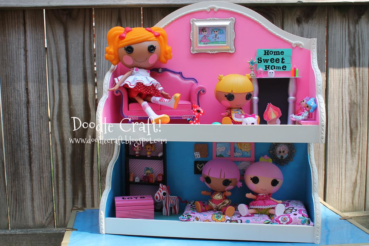 Awesome LaLaLoopsy Dollhouse Upcycled Craft!
