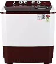 LG 11 kg 5 Star Semi-Automatic Top Loading Washing Machine (P1145SRAZ, Burgundy)