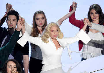 Lady Gaga Honors Sexual Assault Survivors at the Oscars