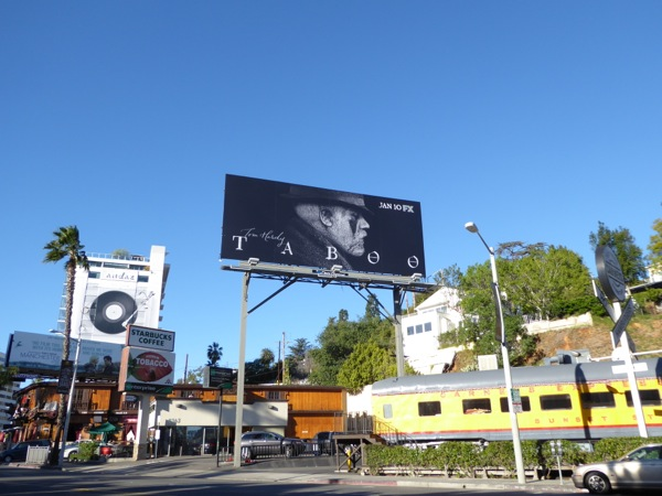Taboo series launch billboard