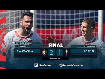 Video Osasuna 2-1 Celta Vigo: Vòng 36, VĐQG Tây Ban Nha