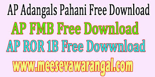 AP Adangals Pahani ROR 1B FMB Tippan Free Download