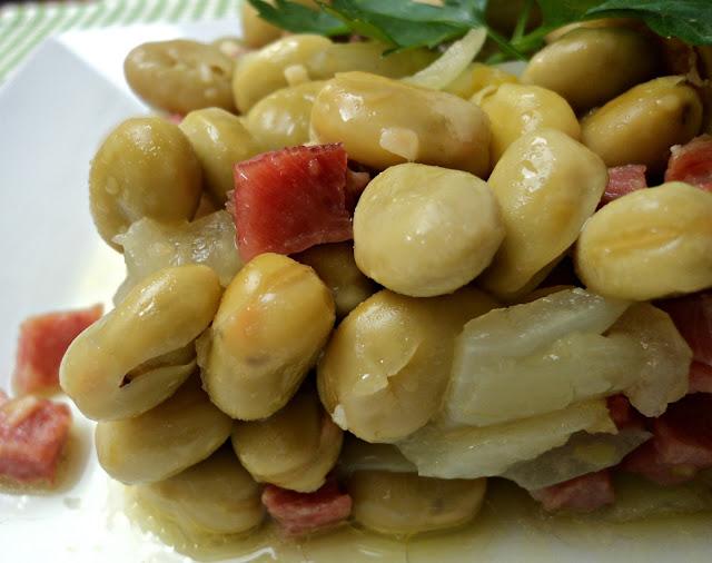habas, jamón, verduras, receta, casera, fc, olla rápida