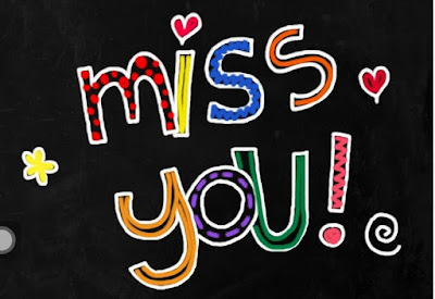 I miss you letters for him or her