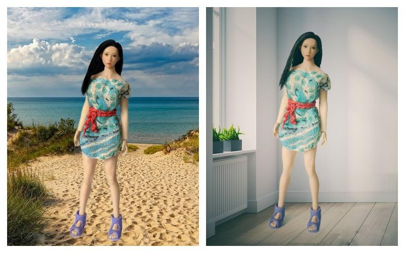 обработка фото с куклой в Snаpseed