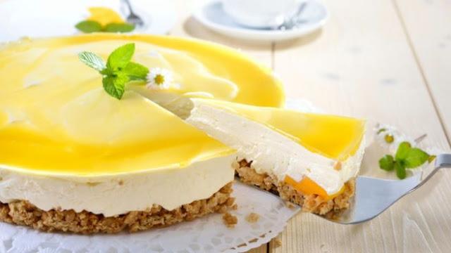 Pastel de Mango y Limón en Gelatina