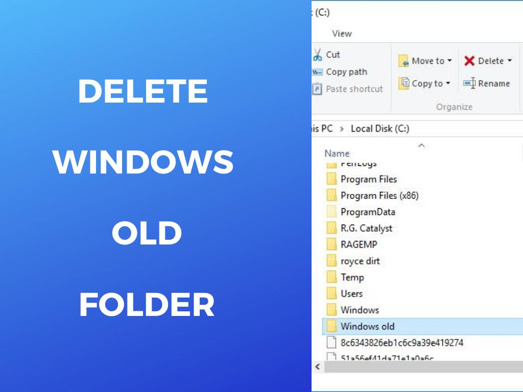how to delete windows.old folder for wndows 10, 8, 7 easy and fast