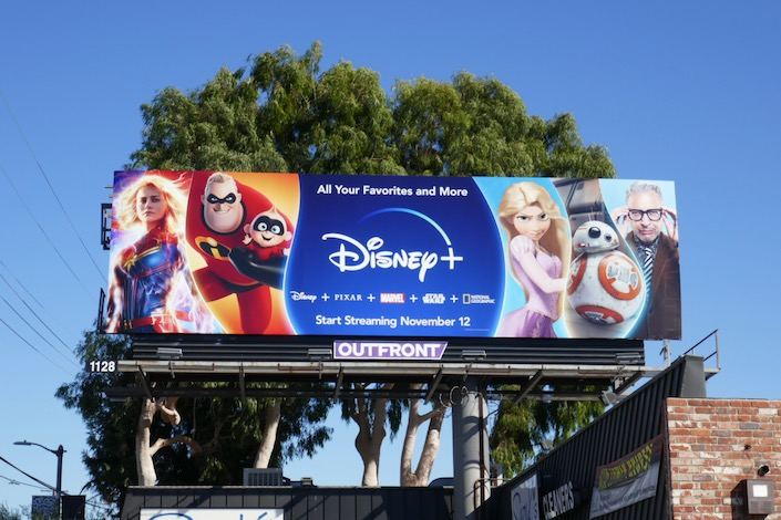 Disney+ character launch billboard