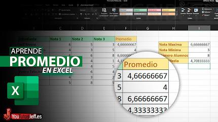 Como Sacar el Promedio en Excel, Calcular Promedio Excel