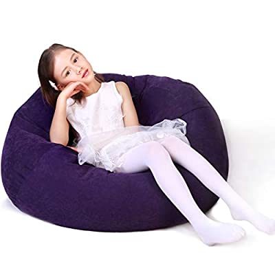 40% off Stuffed Animal Storage Bean Bag Chair Cover for Kids and Adults
